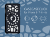 for iPhone 8-7-6-6s : geo : CASECASE CLICK 3d printed