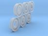1/15 RIMS for 600x16 Six Front Halves Set 3d printed