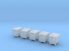 5 Container Bins (1:160) 3d printed