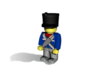 5 x French Shako 3d printed Example figurine (Prussian Infantry) wearing the helmet in black premium