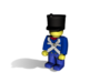 5 x French Shako 3d printed Example figurine (French Light Infantry) wearing the helmet in black premium