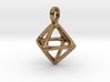 Octahedron Platonic Solid Pendant 3d printed