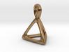 Tetrahedron Platonic Solid Pendant 3d printed