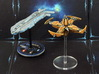 Space station (1-2 pcs) - Fleet Commander 3d printed Hand-painted White Strong Flexible (battleship for scale)