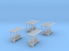 SET Waiting shelters (N 1:160) 3d printed
