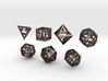 Open Hollow Polyhedral Dice Set 3d printed