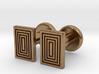 Geometric, Minimalistic Men's Rectangular Cufflink 3d printed