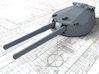 "1/192 14"" MKI HMS Canada Guns x5 3d printed 3d render showing product detail"