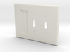 Philips Hue Dimmer 3 Gang Switch Plate L 3d printed
