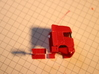 Swedish log truck and trailer 3d printed #1 Cut the cab here