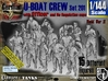 1/144 German U-Boot Crew Set201 3d printed