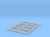 HO Scale set of 8 CPR No.4 standard windows 3d printed