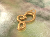 Twisted heart 3d printed bronze material