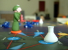 """Pandemic Research Stations, Set of 6 3d printed Our """"research station"""" standing in Atlanta, just waiting for our discovery of a cure. . ."""