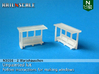 2 Waiting shelters (N 1:160) 3d printed