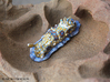 Dorisoni the Nudibranch 3d printed Hand Painted White Strong & Flexible Polished