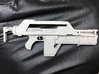 NECA Pulse Rifle Upgrade 3d printed Rifle printed in Frosted Extreme Detail and primed for painting.