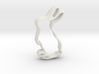 Bunny Shape Cookie Cutter Stamp 2 3d printed