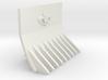 Supressor Fleur de lis dozer blade 3d printed