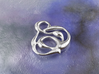 swirl pedant 3d printed raw silver material