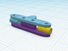 1/64 Steering Rack for Diecast Toy Cars 16mm width 3d printed Front View
