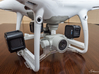 Phantom 4 Right GoPro Mount Main Brace  3d printed VASTmicro mount system holding 3 GoPro Session 5 Cameras