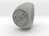 Yellow Sign Signet Ring Size 14.5 3d printed