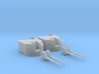 "1/72 Battle Class 4.5""/45 QF MKIV RP10 Gun x2 3d printed 1/72 Battle Class 4.5""/45 QF MKIV RP10 Gun x2"
