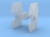 Tie Fighter with Hyper-drive / Hyper-panels 3d printed