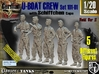 1/20 German U-Boot Crew Set101-01 3d printed