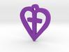 Heart shaped cross pendant 3d printed