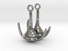 Ceratium Dinoflagellate Earrings 3d printed