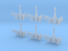 1/7000 QuD Frigate - Attack mode - 6 ships pack 3d printed