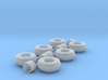 11-16 3 Rib Tractor Tires & Rims (Set of 3) 3d printed