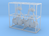 Clamshell bucket small Z scale 3d printed