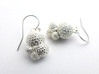 Globigerina Earrings 3d printed Globigerina Earrings in raw silver, reverse