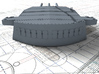 """1/192 HMS Nelson 16""""/45 (40.6 cm) Mark I Guns 1927 3d printed 3d render showing A,B and X Turret detail"""