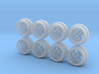 Speed Star Bright Hot Wheels Rims7-5 JH2 3d printed