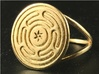 Wheel of Hecate ring 3d printed Wheel of Hecate ring in raw (unpolished) brass.