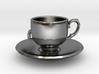 Tea Cup Pendant 3d printed