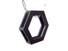 Simple Hexagon Pendant 3d printed The sides are hollow to allow the chain to pass through.