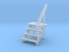 S scale 4 step stair & railing 3d printed