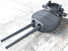 "1/200 HMS Hood 15"" (38.1 cm) Mark II Turrets 1941 3d printed 3d render showing B Turret detail"