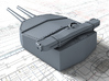 "1/700 HMS Hood 15"" Mark II Turrets 1941 B. Bags 3d printed 3d render showing A Turret detail"