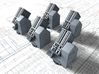 "1/400 HMS Hood 7"" UP Launchers x5 3d printed 1/400 HMS Hood 7"" UP Launchers x5"