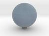 Uranus 1:1 billion 3d printed