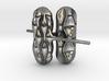 surface wave earrings 3d printed