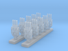Iron Cross Turrets 3d printed