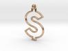 Dollar Symbol Pendant 3d printed