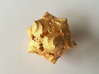D20 Balanced - Fire 3d printed Customer Image: Matte Gold Steel - No longer available